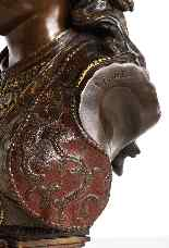 Uno squisito busto in bronzo orientalista multi-patinato fra-0