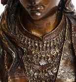 Uno squisito busto in bronzo orientalista multi-patinato fra-1