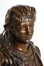 Uno squisito busto in bronzo orientalista multi-patinato fra-3