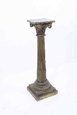 Paire de piédestaux de colonne corinthienne antique c.1900-1