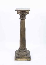 Paire de piédestaux de colonne corinthienne antique c.1900-2