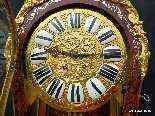 Horloge sur gaine de 2m35 marqueterie Boulle ép Napoléon 3-13