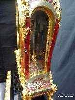 Horloge sur gaine de 2m35 marqueterie Boulle ép Napoléon 3-11