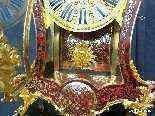 Horloge sur gaine de 2m35 marqueterie Boulle ép Napoléon 3-25
