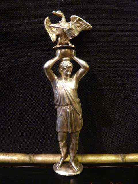 Ganimede e l'aquila, bottiglia di profumo, l'argento, l'Ital