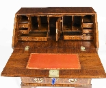 Antique George II Burr & Figured Walnut Bureau 18th C-7