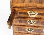 Antique George II Burr & Figured Walnut Bureau 18th C-4