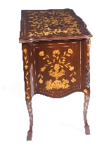 Antique Dutch Mahogany marquetry commode chest 19th C-8