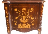 Antique Dutch Mahogany marquetry commode chest 19th C-7