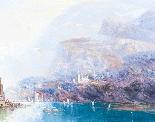 Dipinto ad olio su tela antico paesaggio XIX secolo-5