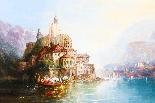Dipinto ad olio su tela antico paesaggio XIX secolo-3