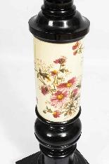 Paire Antique Grands Piédestaux Ebonisés et Porcelaine C1880-7