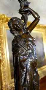 Grande paire de candélabres à l'antique signée James Pradier-0