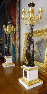 Grande paire de candélabres à l'antique signée James Pradier-3