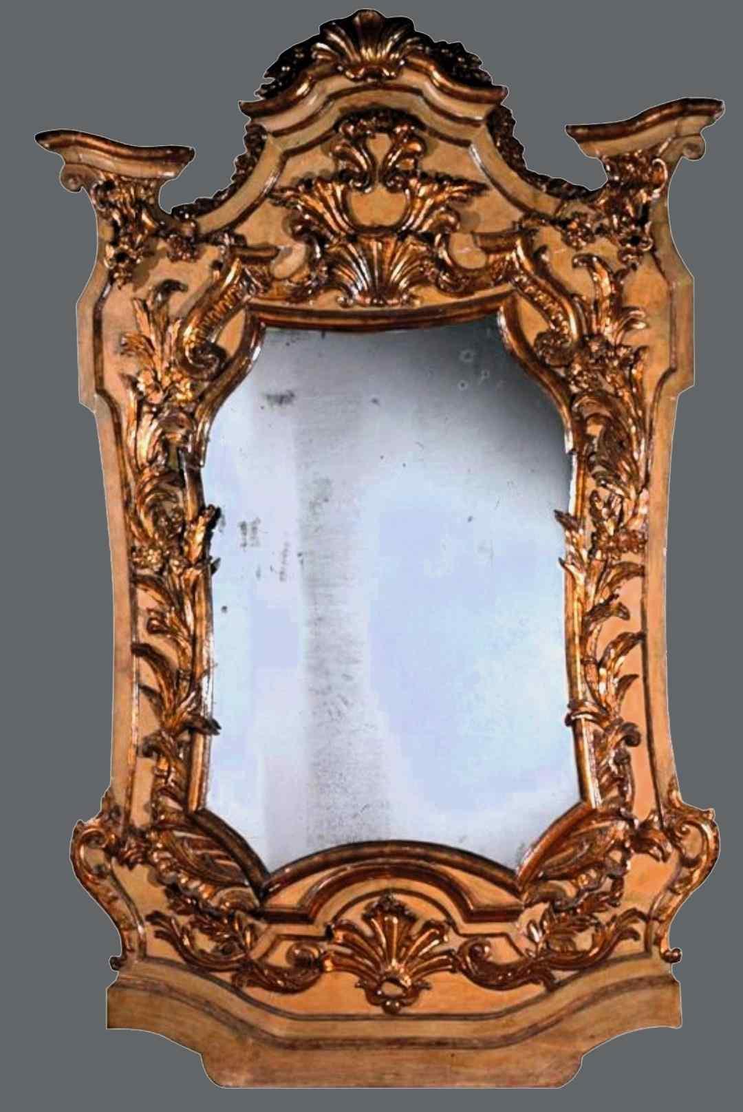 Ancient and imposing Baroque mirror Louis XIV