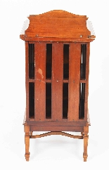 Armoire de Chevet Victorienne Antique en Satin et Marqueté 1-6