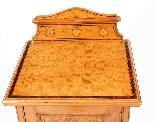 Armoire de Chevet Victorienne Antique en Satin et Marqueté 1-3