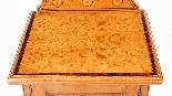 Armoire de Chevet Victorienne Antique en Satin et Marqueté 1-4