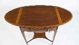 Antico tavolo edoardiano intarsiato occasionale c.1900-4