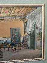 Interoir View, un salone a Ischia, Scuola Italiana 1829-0