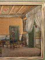 Interoir View, un salone a Ischia, Scuola Italiana 1829-6