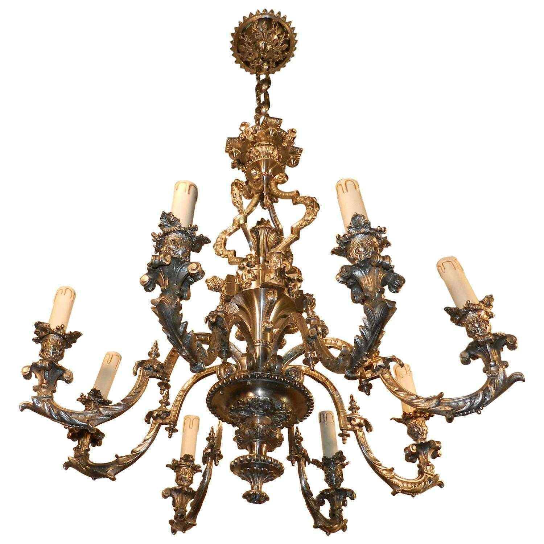 19 francese argentato bronzo neoclassico otto-Light Chandel