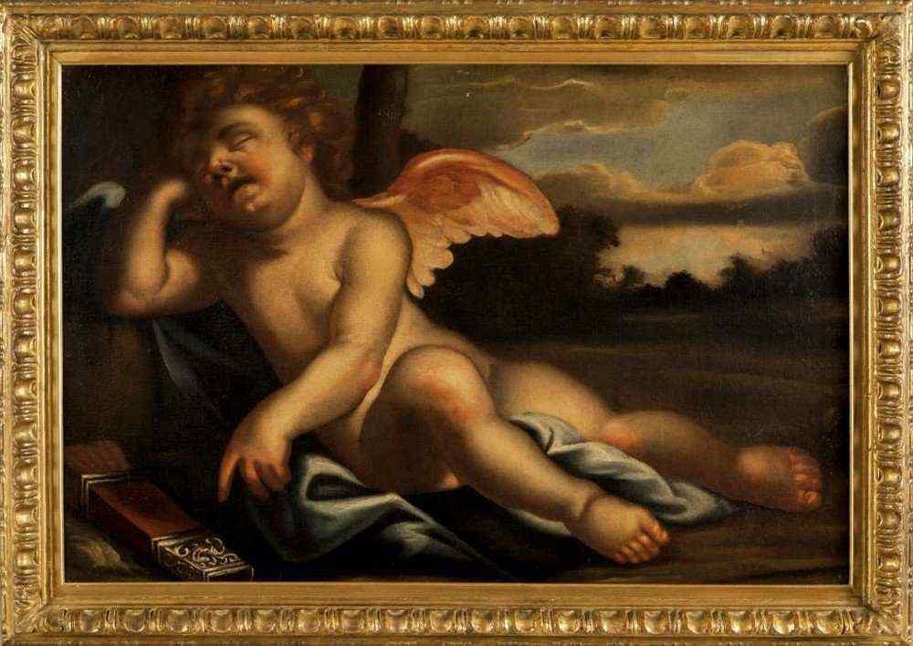 Спящий Купидон, Эмилиан школа XVII века
