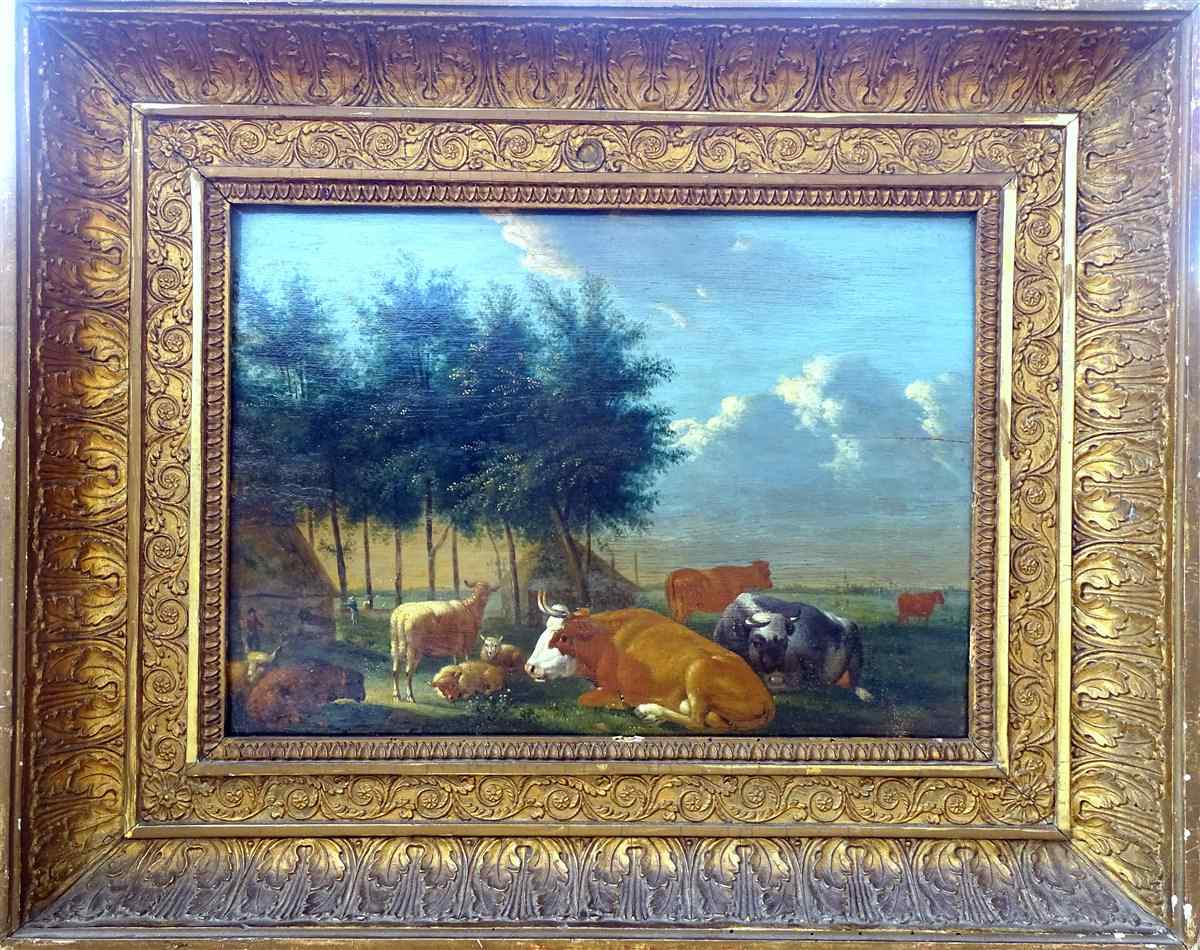 Adriaen Van de Velde 1636-1672 Animali da fattoria