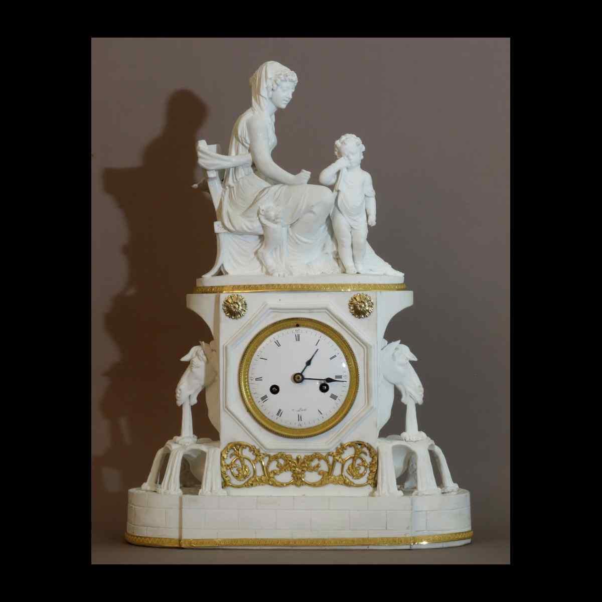 Pendule A La Fontaine Epoque Directoire