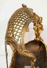 Eccezionale culla per camino in bronzo Ormolu Napoleone III-6