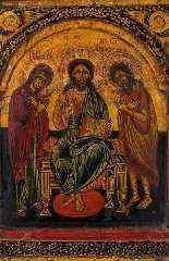 Grecque Triptyque, Déesis et Quatre évangélistes, XVIIe siec-4