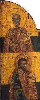 Grecque Triptyque, Déesis et Quatre évangélistes, XVIIe siec-0