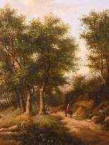 Paesaggio romantico, datato 1855-9