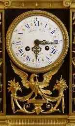 Importante Pendule Et Ses Candelabres De Raingo XIXème-9