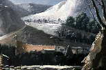 César Van Loo (1743-1821) -Inverno paesaggio-campagna romana-3
