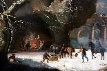 César Van Loo (1743-1821) -Inverno paesaggio-campagna romana-5