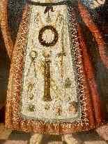 Rara pittura di Cristo Bambino, olio su tavola XVII.-5
