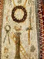 Rara pittura di Cristo Bambino, olio su tavola XVII.-9