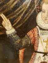 Rara pittura di Cristo Bambino, olio su tavola XVII.-11