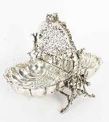 Biscottiera antica vittoriana placcata in argento Fenton Bro-7