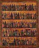 Icône 'Menologion de Juin', Russie, fin du XVIIIe siècle-0