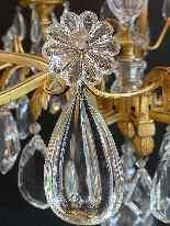 Lampadario francese in bronzo dorato della Maison Baguès-2