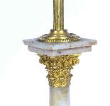 Antique Victorian Ormolu Onyx Corinthian Column Table Lamp-2