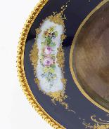 Piatto ovale in porcellana di Sevres antico montato Ormolu, -2