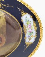 Piatto ovale in porcellana di Sevres antico montato Ormolu, -3