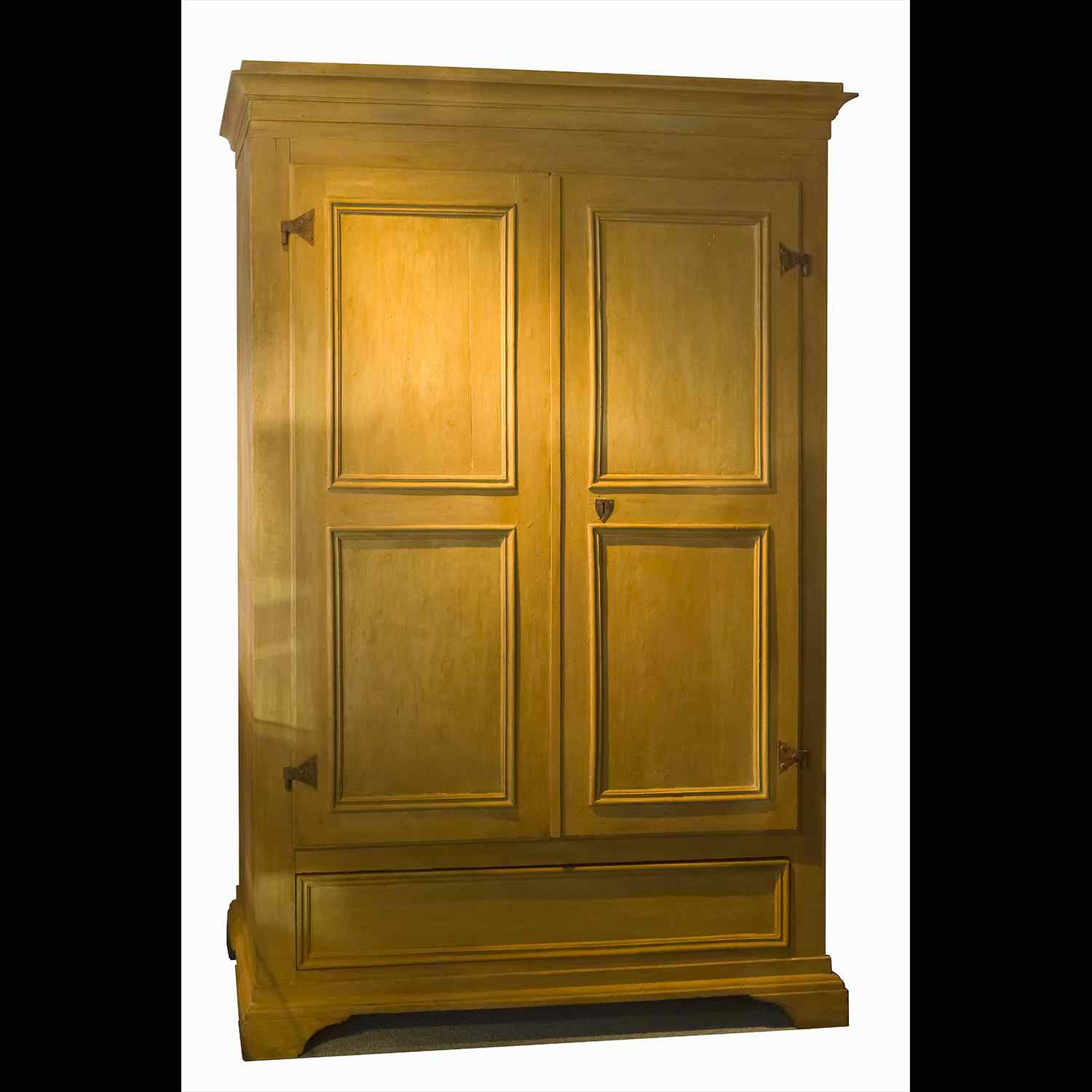 Antique Tuscan lacquered wardrobe