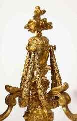 Très belle et élégante paire de bronze doré de style Louis X-16