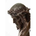 Jean-Baptiste Auguste Clesinger, busto di Gesù in bronzo fra-0