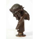 Jean-Baptiste Auguste Clesinger, busto di Gesù in bronzo fra-5