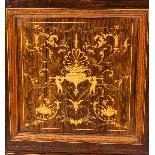 Vetrina antica edoardiana intarsiata, Edwards & Roberts-4